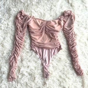 Pale Pink Ruffle Bodysuit